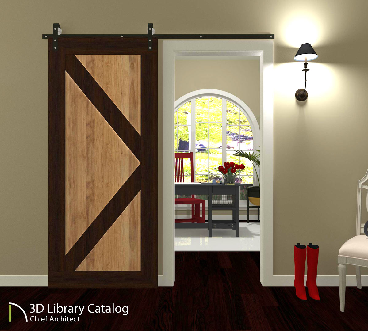 Doors no 1 sliding barn catalog details - Chief architect home designer pro 2017 ...