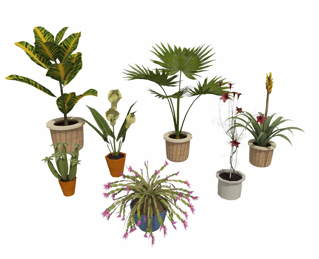 3d Potted Plants Catalog Details